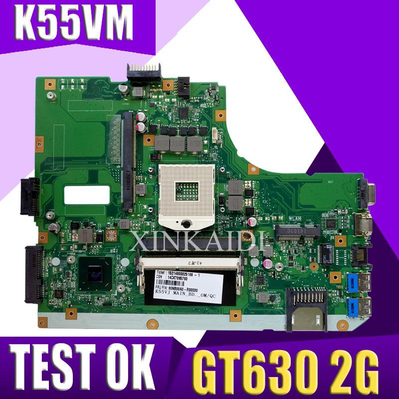 XinKaidi K55VM carte mère d'ordinateur portable pour ASUS A55V K55V K55VM K55VJ carte mère REV2.2/2.0 Support Geforce GT630 2G 100% testé