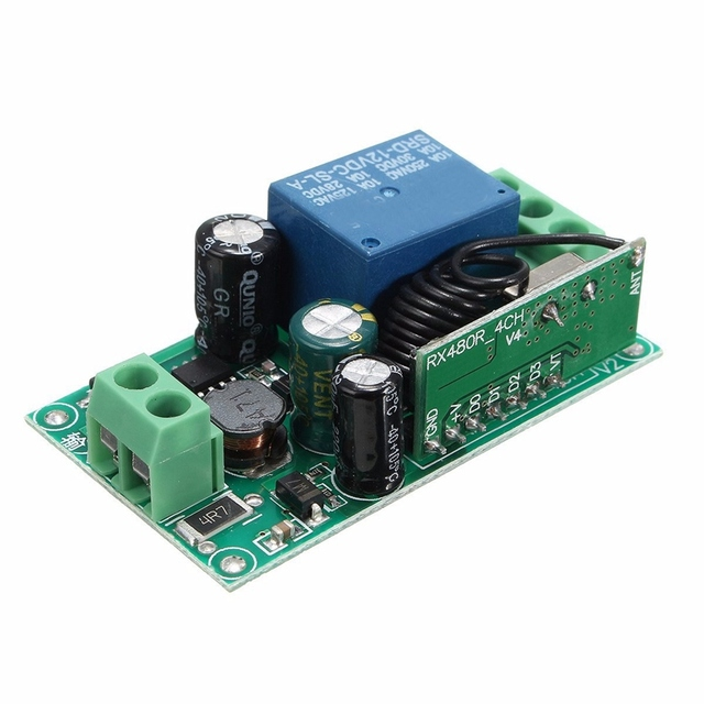 Smart Home DC 12V 220V 10A 315/433MHz Channel  Wireless Relay RF Remote Control Switch Heterodyne Receiver Top Quality