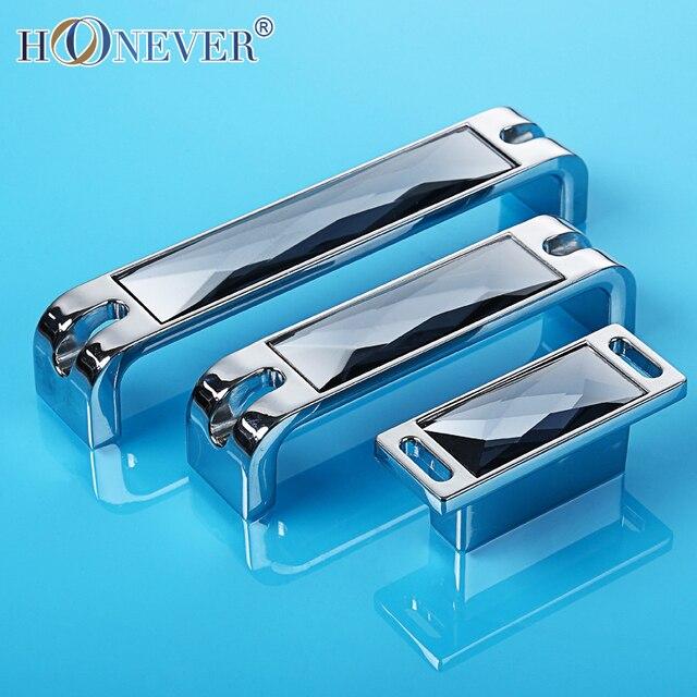 5pcs Furniture Handles with Crystals Door Handles Luxury Kitchen ...