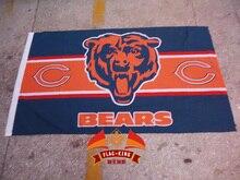 NFL Chicago Bears football club flag,  Rugby soccer Match fan banner,flag king 90*150CM polyster
