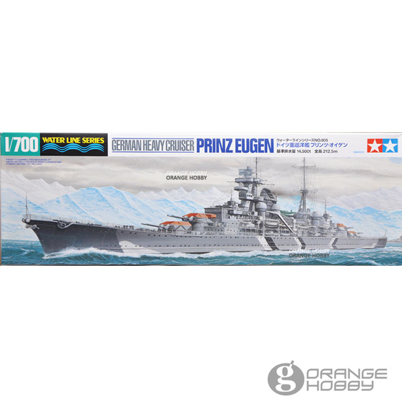 OHS Tamiya 31805 <font><b>1</b></font>/<font><b>700</b></font> German Heavy Cruiser Prinz Engen Water Line Ver. Assembly <font><b>Scale</b></font> <font><b>Model</b></font> Building Kits image