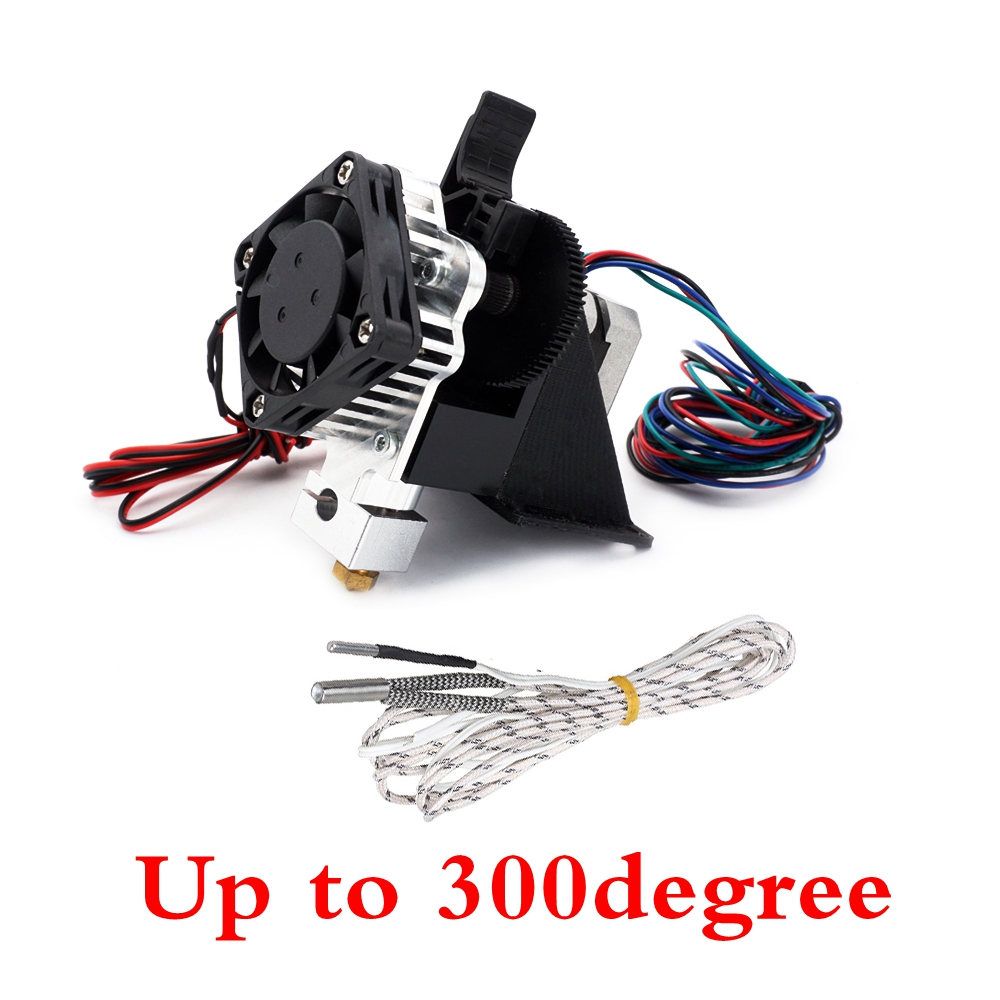 300degree Assembled 3D PrinterTitan Aero Upgrade V6 hotend extruder full kit titan extruder For Reprap mk8 Prusa i3 ANET printer free shipping air solenoid valve 4v330c 10 double coil 3 8 bsp ac110v 5 3 way control valve plug type with red indicator light