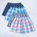 6pcs/Lot Mens Underwear Boxers Shorts Cotton Underpants Male  High Quality  Plaid Loose Comfortable Home Panties Plus Size M-4XL