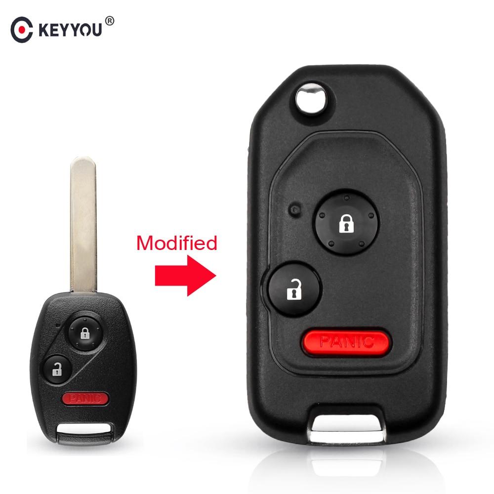 KEYYOU Flip Car-Key-Shell-Case Modified Pilot Remote CRV Civic Honda Accord For Fit