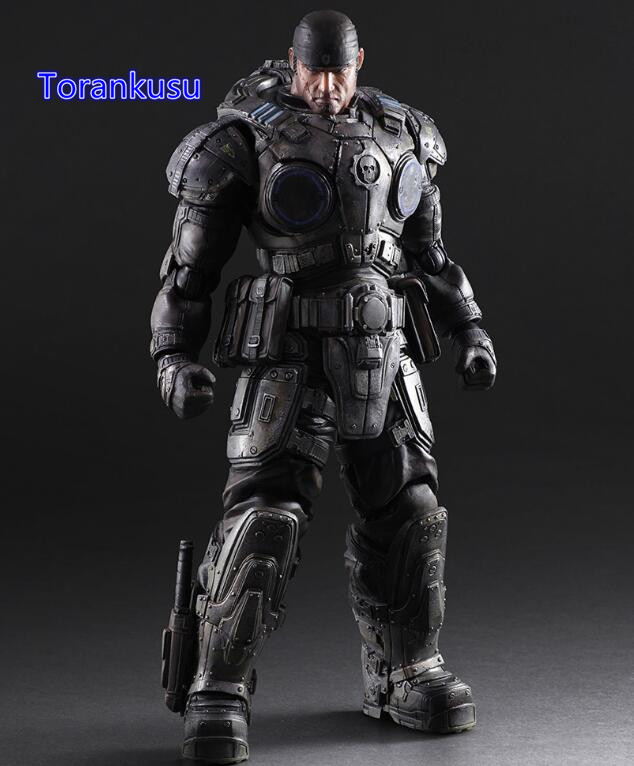 Gears of War 3 Action Figure Paly Arts Kai Marcos PVC Figure 260MM Playarts Kai Gears of War Collectible Model Toy PA03 xbox one gears of war 4 ultimate