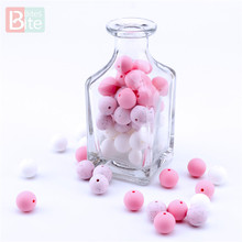 Bite Bites 30pc Silicone Bead Teething Food Grade Baby Teethers 15mm Pacifier Chain Accessories Toy Making Teether BPA Free