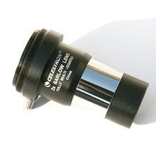 Celestron barlow eyepiece 2x barlow 렌즈 접안 렌즈 1.25 인치 접안 렌즈 사이의 2x barlow 렌즈 삽입 단안