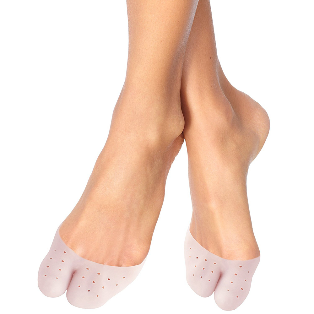 1 Pair Protective Sleeve Gel Toe Sock Cushion Ballet Pointe Dance Shoe Pads Tool