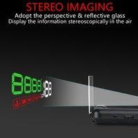 Автомобильный HUD Дисплей OBD2 II EUOBD превышение скорости Предупреждение systemstereoscopic проектор для ветрового стекла автоматический электронный Н