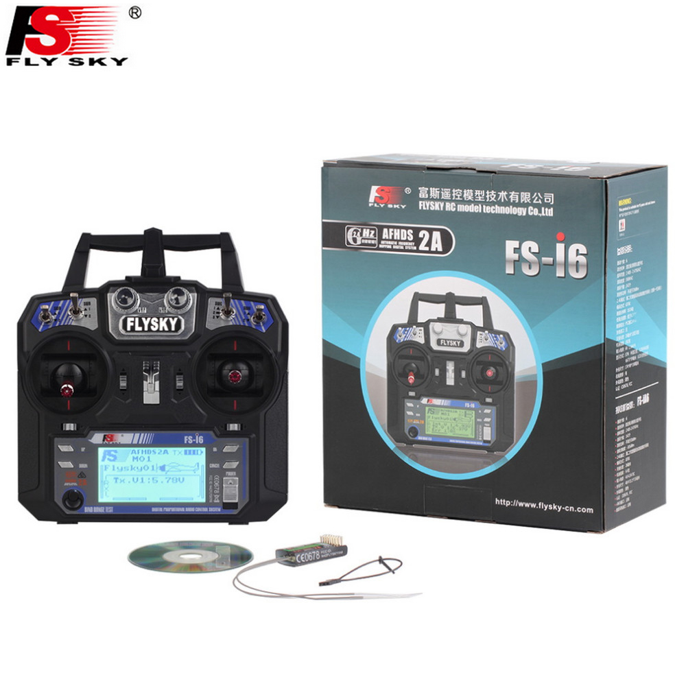Wholesale Fly Sky FS i6 2 4G 6CH AFHDS RC Transmitter With FS iA6 FS iA6B