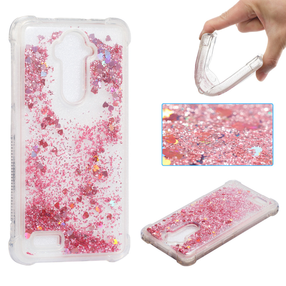 For ZTE Z981 Case Luxury Glitter Dynamic Liquid Colorful Quicksand Love Sequins Cover for ZTE Z981 phone case for ZTE Z981 in Fitted Cases from Cellphones Telecommunications