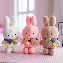 New Lovely Rabbit Wearing Scarf Plush Toy Stuffed Animal Doll Toys Children Gift 35cm
