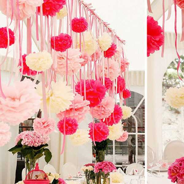 Paper Flowers Ball Garland Decoration Wedding Birthday Party Craft