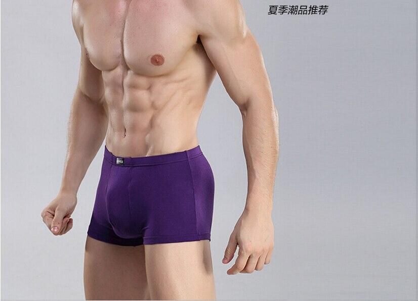 Free Shipping High-end mens underwear bamboo fiber Pure color modal boxer U convex in the waist SIZE L XL XXL XXXL #7066R1