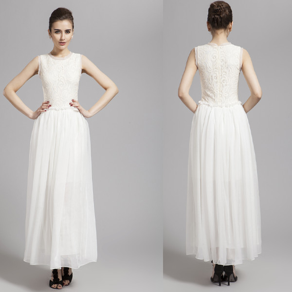New 2014 A Line Elegant 8th Grade Graduation Dresses, Long White ...