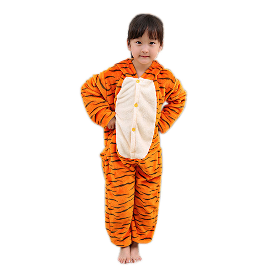 Kigurumi Tiger Totoro Animal Halloween Pajamas For Children Kid Unicorn Flannel Cartoon Pijama Home Unisex Anime Pyjama Winter