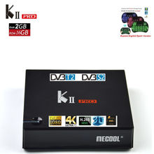 MECOOL KII PRO DVB-S2 DVB-T2 Android TV Box Amlogic S905D Quad Core 2 GB 16 GB 64bit 4 K CCCAM NEWCAMD 2.4/5 GHz Double Wifi BT4.0