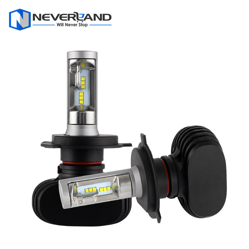 NEVERLAND H4 9003 HB2 Hi Lo Beam 50W 8000LM 6500K CSP LED Chips Car Headlight Conversion Kit Fog Lamp Bulb DRL Super White
