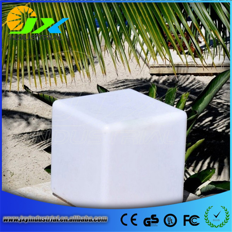 led cube chair/ outdoor waterproof colorful led light white red blue yellow cube 20cm 30cm 40cm furniture