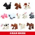 Bloques de Construcción Animal Lepin-Animales de Granja Ovejas Caballo Conejo Perro Gato Cerdo Polla Vaca Compatible con Duploe Bebé Educativos juguetes