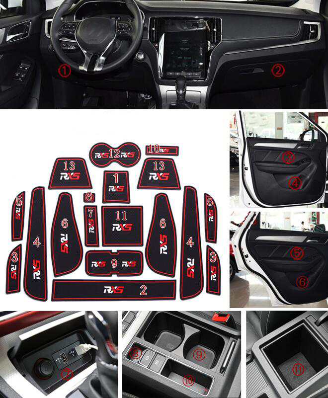 Sporting Car Anti-dirty Pad Door Groove Gate Slot Cup Armrest Storage Pad Anti-slip Mat For Nissan X-trail 2013 2014 2015 2016 Home