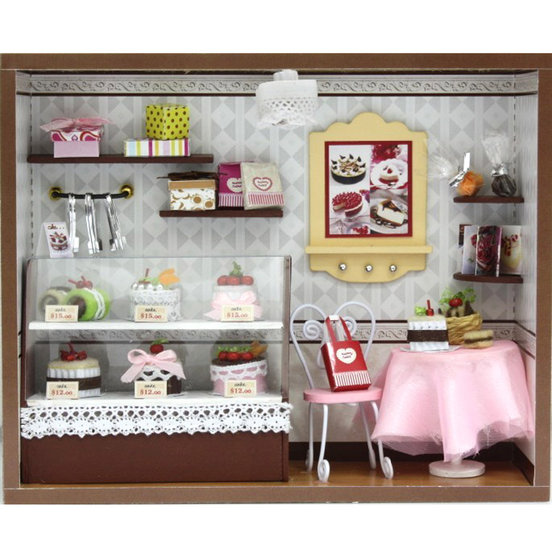 Europe Shop Model Kit Rock Time Assemble Miniature Dollhouse Diy Doll House Room Box Home Handmade Toy House Girl Favorite Gift Gift House Party Giftgift Box For Jewelry Aliexpress