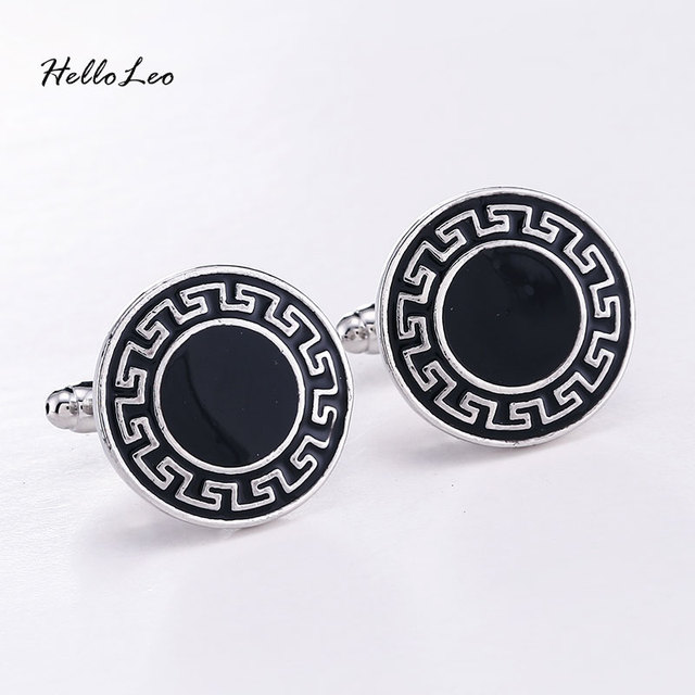 High Vintage Square Round Business Simple Cufflinks Series Personality French Cuff Links