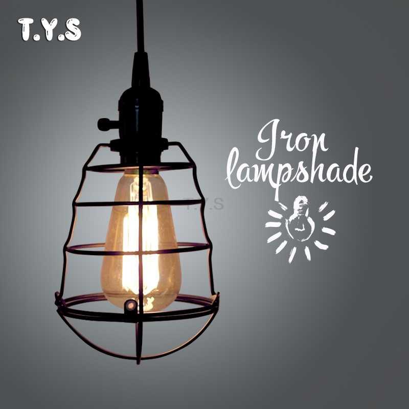 Современный Лофт открытый подвесные светильники Ретро промышленные Эдисон старинный светильник железной клетке абажур обеденная домашний декор