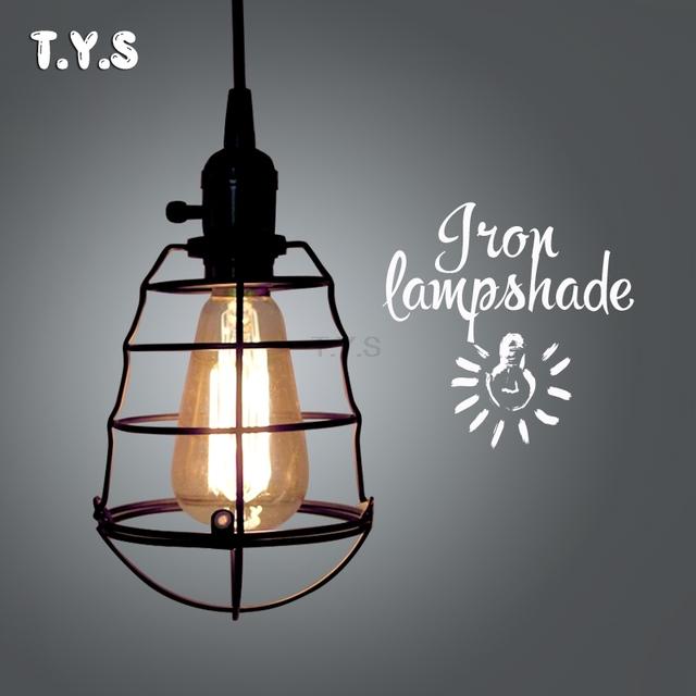Bonitas Luces colgantes de desván moderno Retro Industrial Edison lámpara Vintage sombra jaula de hierro pantalla comedor decoración del hogar iluminación interior