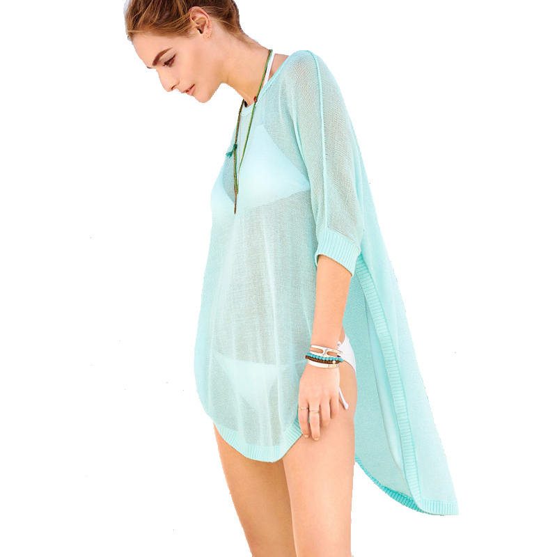 tooou women beach crochet sheer swimsuit cover up, sexy plus size