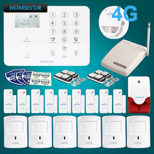 HOMSECUR Wireless&wired 4G/GSM LCD Home House Pet-Immune/Friendly Alarm System GA01-4G-W