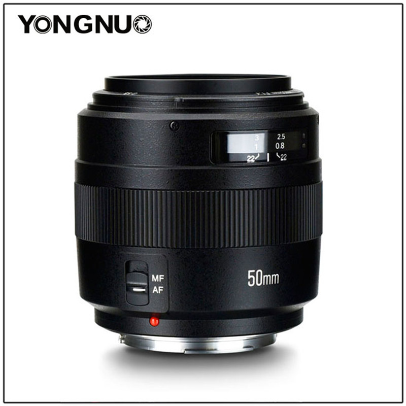 YONGNUO 50mm YN50MM F1.4 Standard Prime Lens Grande Apertura Messa A Fuoco Automatica per Canon EOS 1300D 1200D 1100D 1000D 850D 5DIV 5 DIII 5D