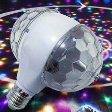 YIYANG LED 6W obrotowa żarówka z podwójną głowicą magiczna lampa Disco obracanie dwugłowy RGB światła sceniczne Luces escenio