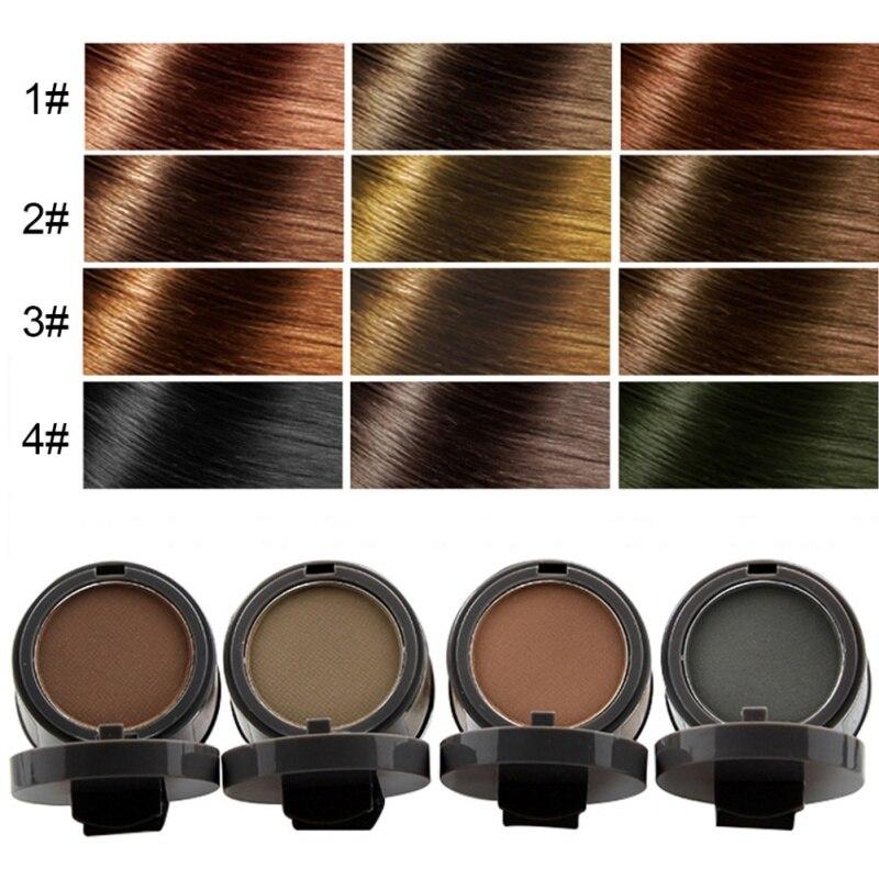 Купить с кэшбэком Hair Concealer Coverage Natural Hair Fluffy Powder Black Root Cover Up Instant Hair Line Shadow Powder