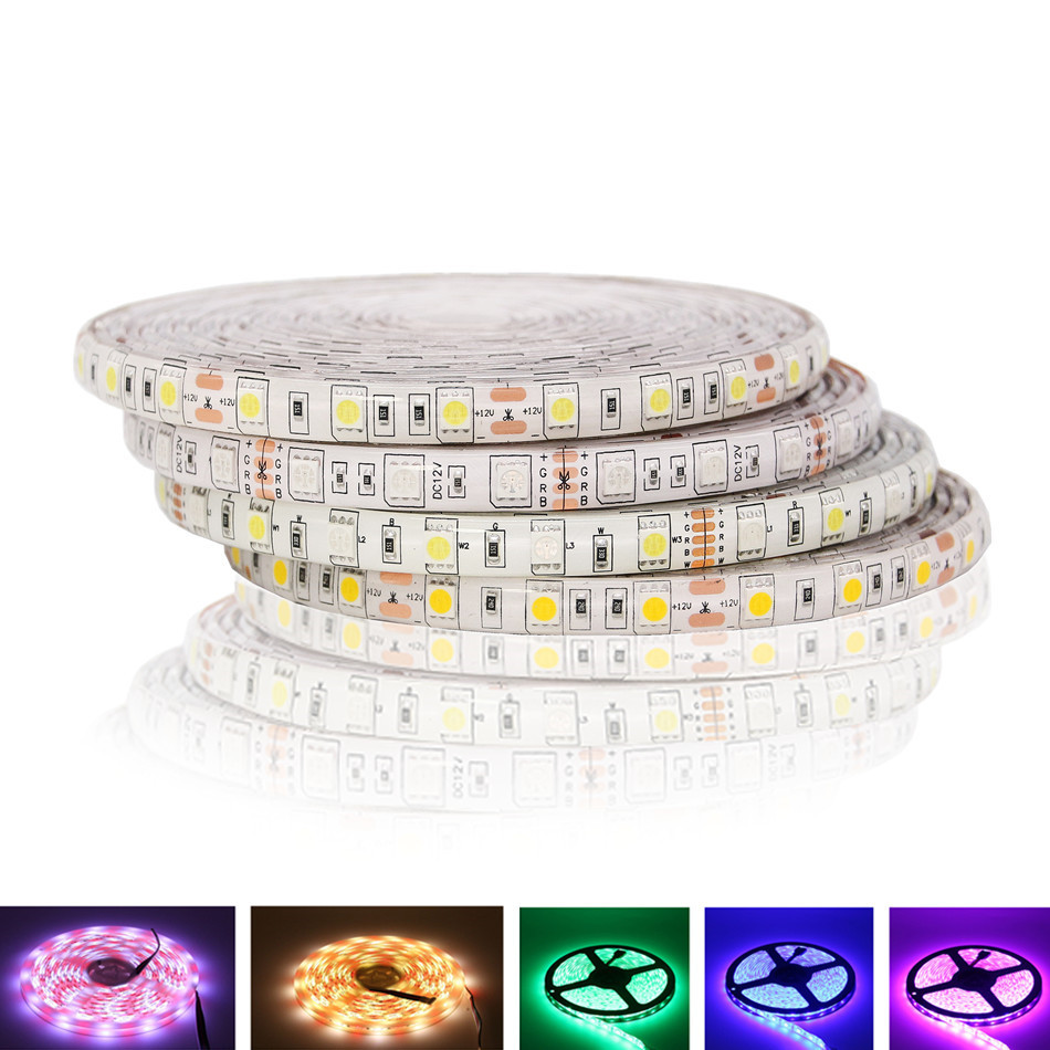 DC12V RGBW RGB LED Strip 5050 Waterproof Flexible LED Light Strip 5M 300LEDs for Home Lighting 10pcs 5 pin led strip wire connector for 12mm 5050 rgbw rgby ip20 non waterproof led strip to wire connection terminals