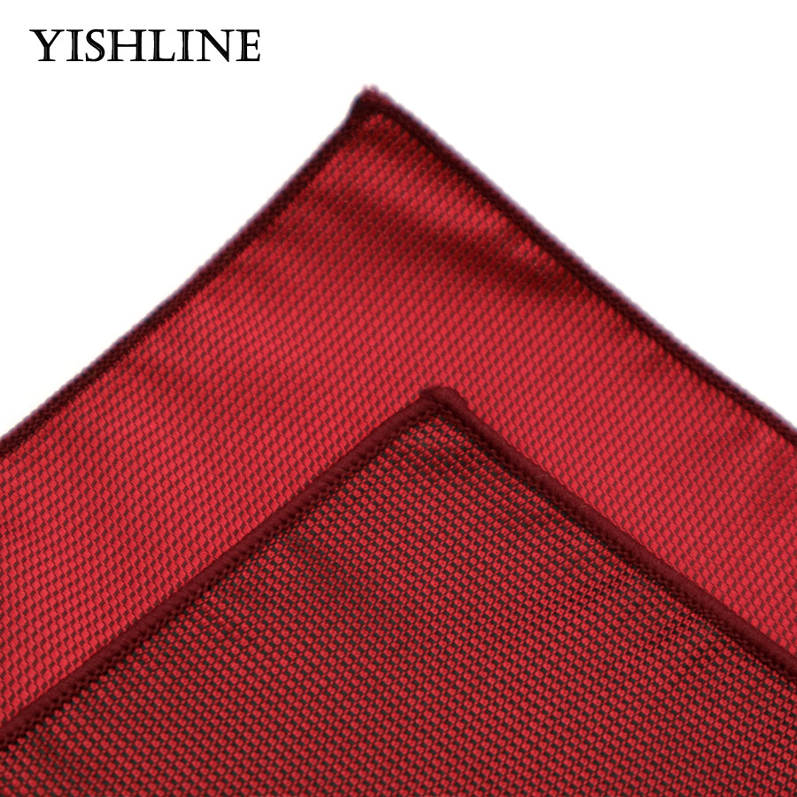 c532425a5aae6 SF01 02 Men's Silk Handkerchief Wine Red Solid Color Rolled Edged Pocket  Square 22*22cm Wedding Business Party Chest Towel-in Ties & Handkerchiefs  from ...
