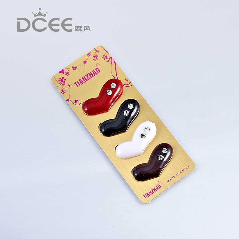 6 Pcs/lot Plastik Bros Pin untuk Wanita Muslim Jilbab Islam Syal Jilbab Dekorasi Syal Gesper Desain Acak