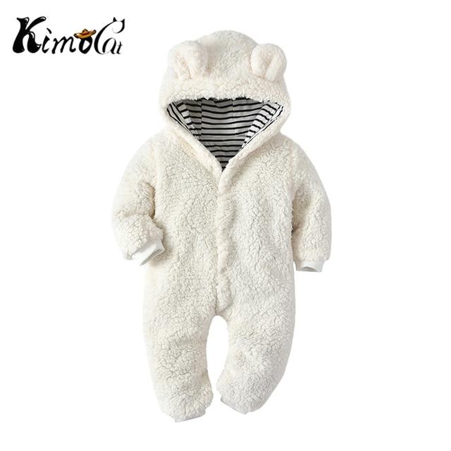 d4fcaf13150f Kimocat Baby Boy Rompers One Piece Winter Warm Kids Overalls Polar ...
