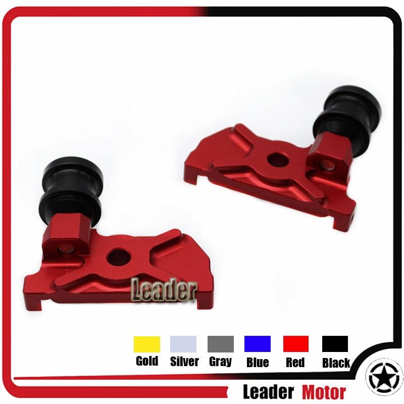 Accesorios de la motocicleta cnc basculante carretes adaptadores de montaje rojo