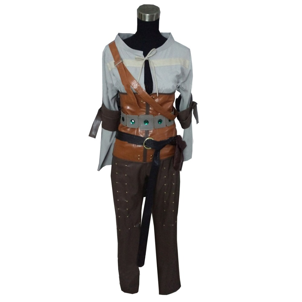 2017 The Witcher 3 sauvage chasse Cirilla Costume Cosplay vêtements jeu Costume adulte femmes Halloween carnaval