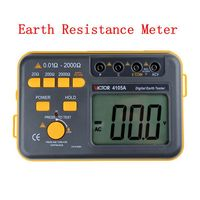 Brand Digital Earth Tester Ground Resistance Ground&AC Voltage Measurement Electronic Earth Resistance Meter VC4105A With Bag