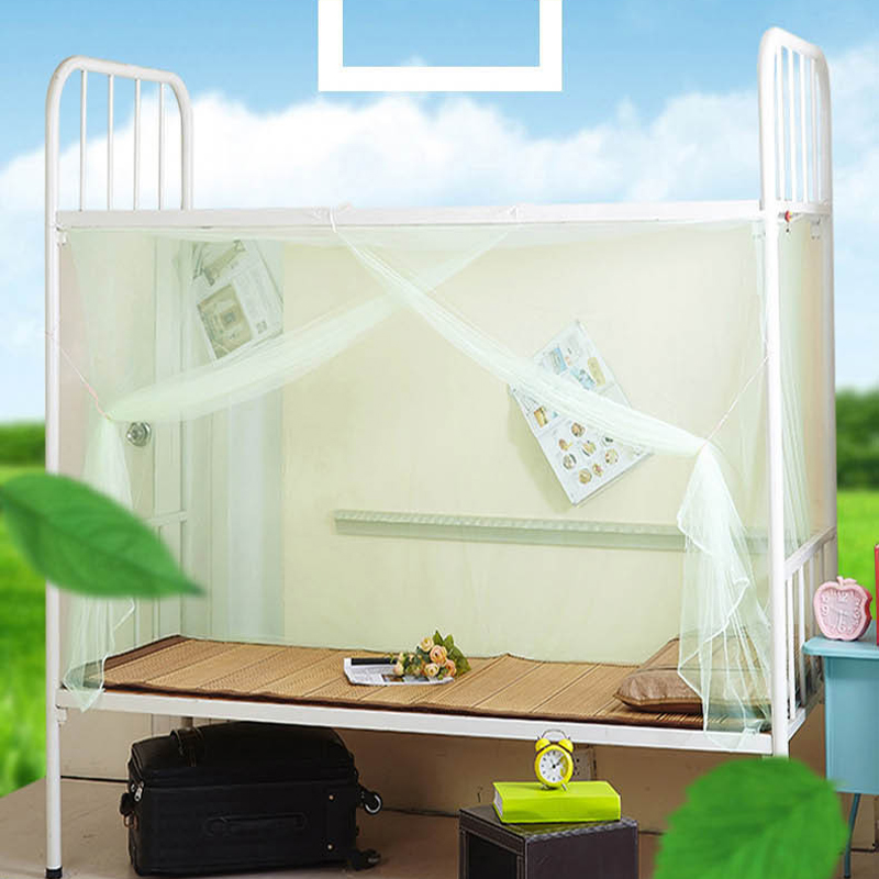 1pcs Moustiquaire Canopy White Four Corner Post Student Canopy Bed Mosquito Net Hung Dome Mosquito Nets Dropshipping