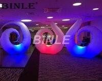 Красочные украшения Надувные светодиодное освещение Луна с дистанционным управлением гигантские надувные ногтей для вечеринки