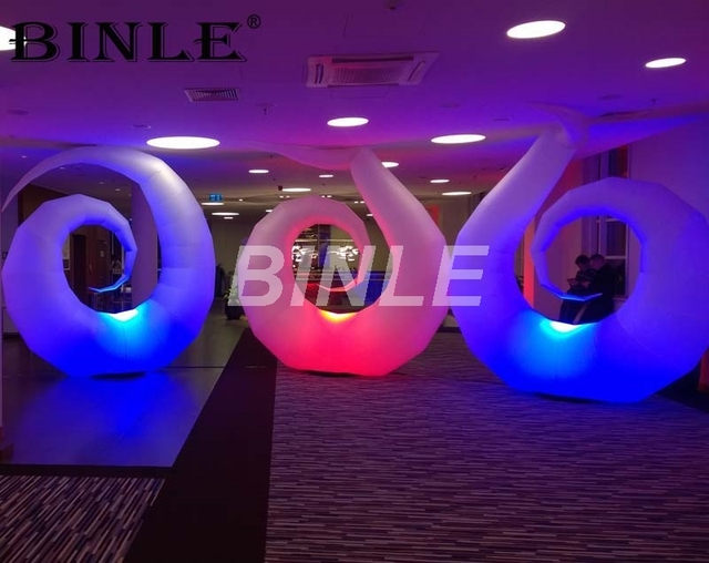 Colorful decoration inflatable led lighting moon with remote control giant inflatable nail for party