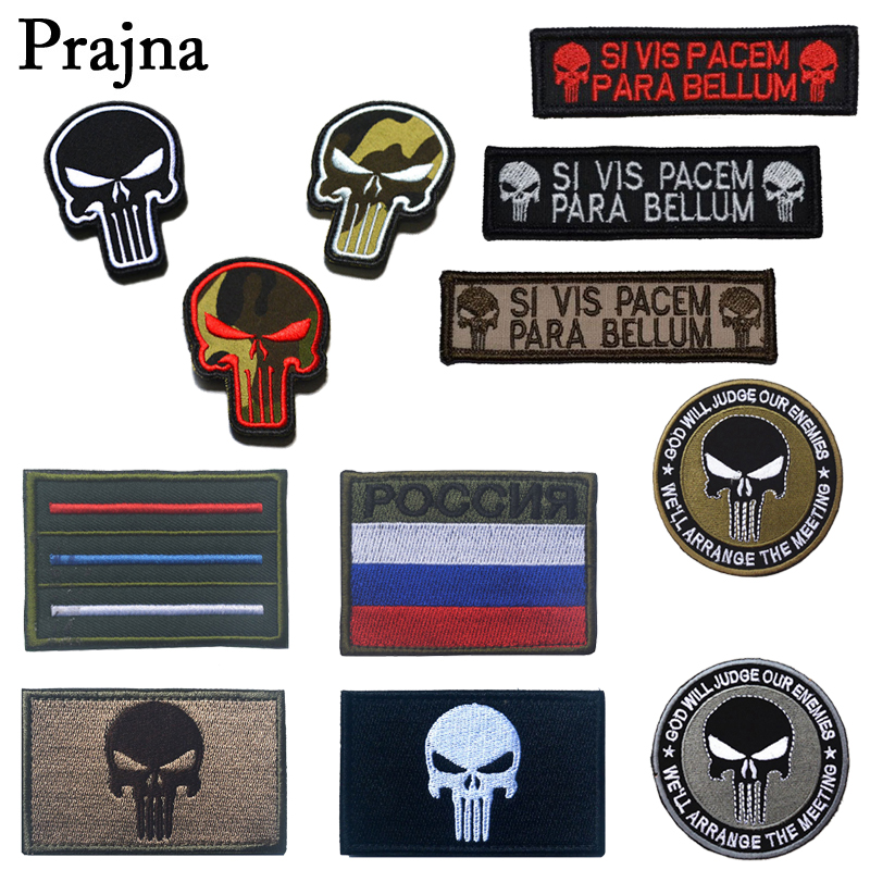 New Punisher Army Tactical Backpack Embroidery Armband Personalized Military Badge Apparel Hat Fabric Selling Well All Over The World Arts,crafts & Sewing Special Price