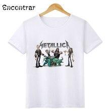 ca984b81b38 Kids Heavy Metal Rock metallica Design T Shirt Boys Girls Casual Short  Sleeve Tops Children s Funny Music T-Shirt