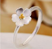 2017 fashion Cherry blossom han edition contracted classic temperament ring ring opening ring children lady ring handmade