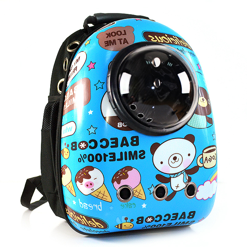 Naturelife Fashion Space Cabin Pet Carrier Dog Bag Breathable Dog Backpack Cat Carrier Outside Portable Cat Transport Bag
