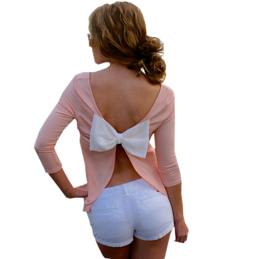 Sexy backless blouses