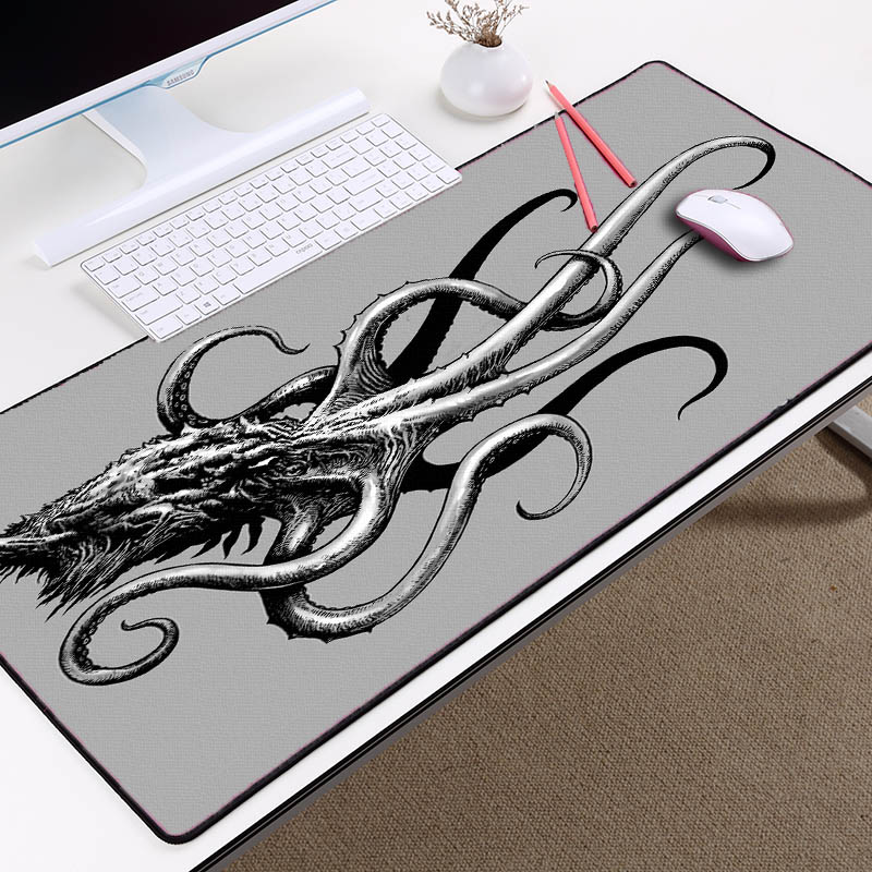 Congsipad Cthulhu Pattern Octillery Mousepad Funny Gaming MouseMat Game Pc Mousepad Rubber Keyboard MicePad 300x800x2MM Big Size